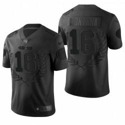Joe Montana NFL MVP Trikot 49er schwarze begrenzte