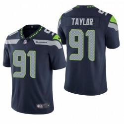 Darrell Taylor Seattle Seahawks NFL Draft Navy Vapor begrenzte Trikot