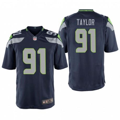 Seattle Seahawks Darrell Taylor College-Navy NFL Draft Spiel Trikot
