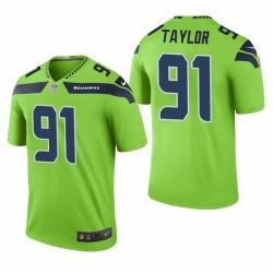 Darrell Taylor Seattle Seahawks Grün Farbe Rausch Legend Trikot