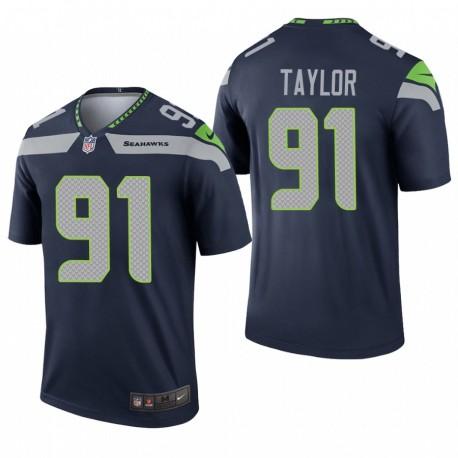 Darrell Taylor Seattle Seahawks Navy Legend Trikot