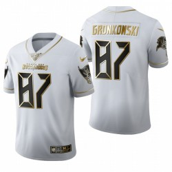 Rob Gronkowski Tampa Bay Buccaneers Trikot Weiß Golden Edition