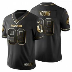 Chase Young & 99 Washington Redskins Vapor begrenzte Männer schwarze Trikot