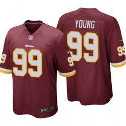Redskins & 99 Chase Junge Burgund NFL Draft Pick-Spiel Trikot