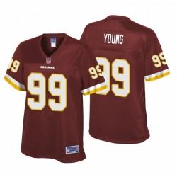 Washington Redskins und 99 Chase Junge Burgund NFL Draft Trikot
