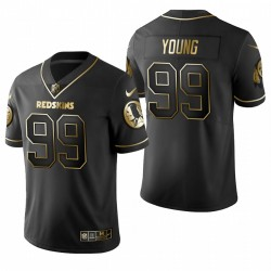 Chase Young & 99 Washington Redskins Golden Edition Männer schwarze Trikot