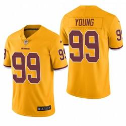 Washington Redskins und 99 Chase Junge Gold-NFL Draft Trikot