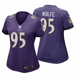 Derek Wolfe Baltimore Ravens Spiel Lila Trikot