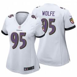 Derek Wolfe Baltimore Ravens Spiel Weiße Trikot