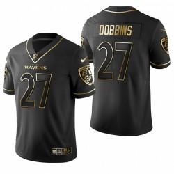 J. K. Dobbins NFL Draft Trikot Raben Schwarz Golden Edition
