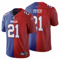 Jordan Poyer Buffalo Bills Split Two Tone Trikot - Royal Red