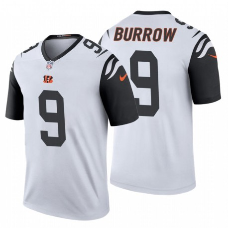 Cincinnati Bengals und 9 Joe Burrow Weiß NFL Draft Trikot