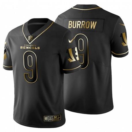 Joe Burrow & 9 Cincinnati Bengals Golden Edition Männer schwarze Trikot