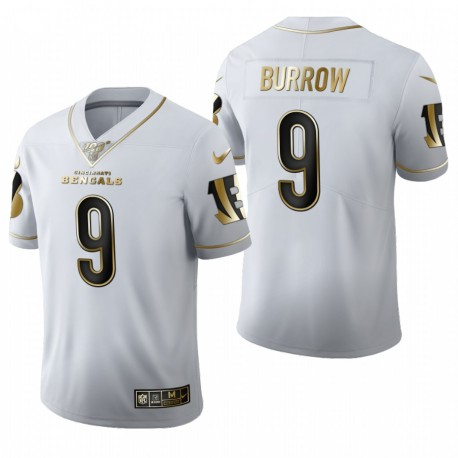 Joe Burrow NFL Draft Trikot Bengals Weiß Golden Edition