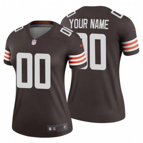 Frauen Cleveland Browns personalisieren & 00 Brown Legend Trikot