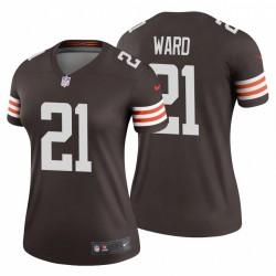 Frauen Cleveland Browns Denzel Ward & 21 Brown Legend Trikot