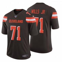 Jedrick Wills Jr. & 71 Cleveland Browns NFL Draft Männer Brown Trikot