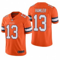 KJ Hamler NFL Draft Trikot Denver Broncos Orange Farbe Eile Begrenzte
