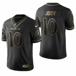 Jerry Jeudy NFL Draft Trikot Broncos Schwarz Golden Edition