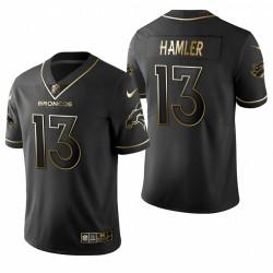 KJ Hamler NFL Draft Trikot Broncos Schwarz Golden Edition