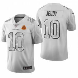 Broncos Jerry Jeudy Stadt Ausgabe Trikot Weiß Vapor Begrenzte