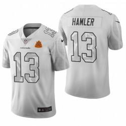 Broncos KJ Hamler Stadt Ausgabe Trikot Weiß Vapor Begrenzte
