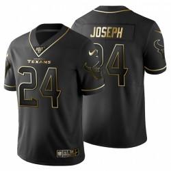 Johnathan Joseph Houston Texans Metallic Gold 100. Saison Trikot - Schwarz