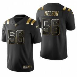 Indianapolis Colts Quenton Nelson Trikot Schwarz Goldene Begrenzte