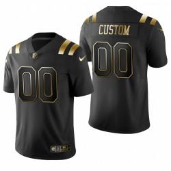 Indianapolis Colts personalisieren Trikot Schwarz Goldene Begrenzte