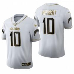 Justin Herbert NFL Draft Trikot Ladegeräte Weiß Golden Edition