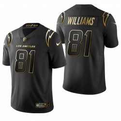 Mike Williams Los Angeles Chargers Trikot Schwarz Goldene Begrenzte