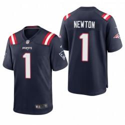 Cam Newton Spiel Trikot Patriots Navy