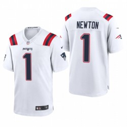 Cam Newton Spiel Trikot Patriots Weiß