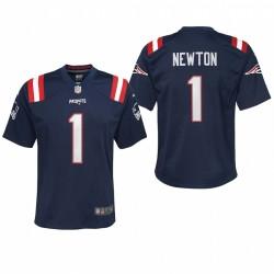 Jugend Cam Newton Trikot Patriots-Marine-Spiel