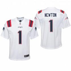 Jugend Cam Newton Trikot Patriots Weiß Spiel
