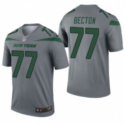 Jets Mekhi Becton Trikot Grau Inverted Legend