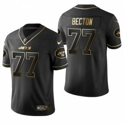 Mekhi Becton NFL Draft Trikot Jets Schwarz Golden Edition