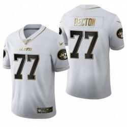 Mekhi Becton Trikot Jets Weiß NFL Draft