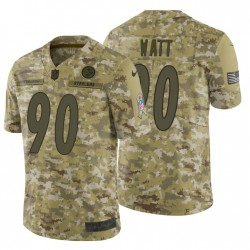 Steelers T. J. Watt & 90 Camo 2018 Salute to Service-Trikot