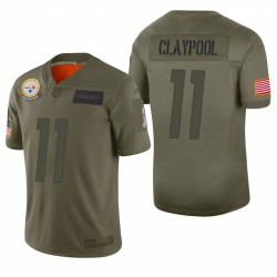 2019 Salute to Service-Trikot Chase Claypool Steelers Olive Begrenzte