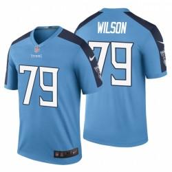 Tennessee Titans und 79 Isaiah Wilson Light Blue NFL Draft Trikot