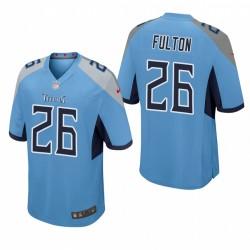 Tennessee Titans Kristian Fulton Light Blue NFL Draft Spiel Trikot