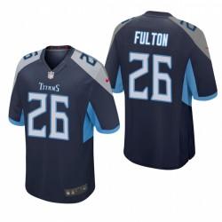 Tennessee Titans Kristian Fulton Marine NFL Draft Spiel Trikot