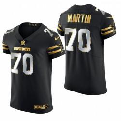 Cowboys Zack Martin Golden Edition Trikot Schwarz Elite