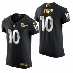Rams Cooper Kupp Golden Edition Trikot Schwarz Dampf Elite