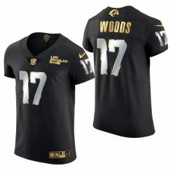 Rams Robert Woods Golden Edition Trikot Schwarz Dampf Elite