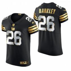 Giants Saquon Barkley Golden Edition Trikot Schwarz Elite