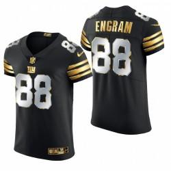 Giants Evan Engram Golden Edition Trikot Schwarz Elite