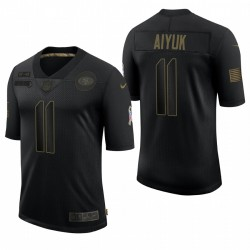 49ers Brandon Aiyuk Begrüßung an Service Trikot Schwarz Limited