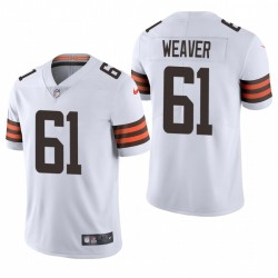 Browns Curtis Weaver Trikot White Dampor Limited